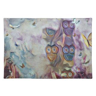 Eulen und Schmetterlinge Tischset