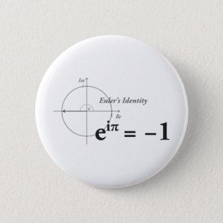 Eulers Identitäts-Mathe-Formel Runder Button 5,1 Cm