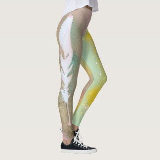 Euphorie-Feder-Gamaschen Leggings