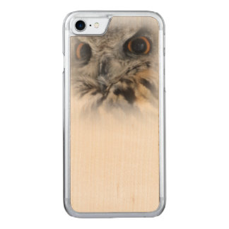 Eurasische Eagle-Eule Carved iPhone 8/7 Hülle