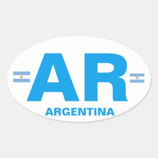 Euro-ähnlicher ovaler Aufkleber Argentiniens AR