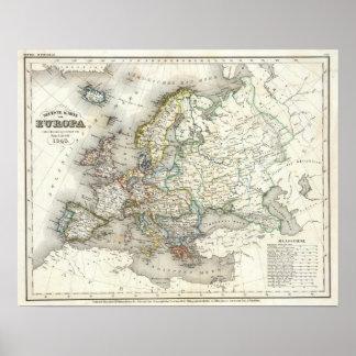 Europ Karte Poster