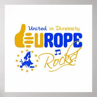 Europa-Felsen! Plakat - fertigen Sie besonders an!