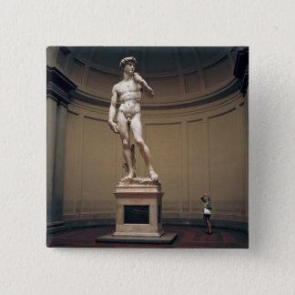Europa, Italien, Florenz. Das Istmaß von Quadratischer Button 5,1 Cm