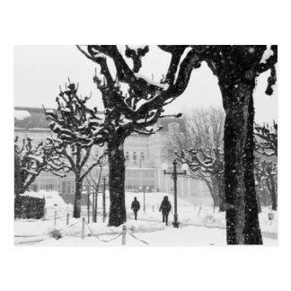 Europa, Österreich, Salzburg. Winter, Postkarte