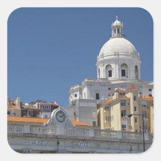 Europa, Portugal, Lissabon (alias Lissabon). Quadratischer Aufkleber