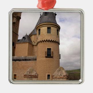 Europa, Portugal, Sintra. Der Pena Quadratisches Silberfarbenes Ornament