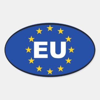 Europäische Gewerkschaft - EU Ovaler Aufkleber