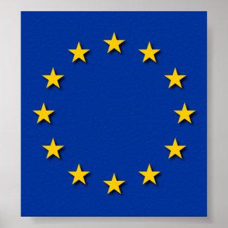 Europäische Gewerkschafts-Flagge/EU kennzeichnen Poster