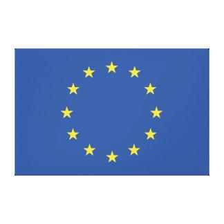 Europäische Gewerkschafts-Flagge Leinwanddruck