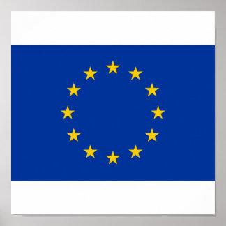 Europäische Gewerkschafts-Flagge Poster