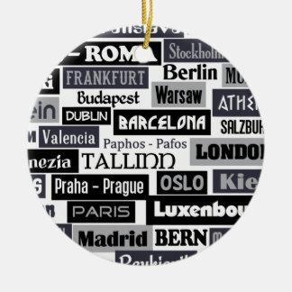 Europäische Reisendverzierung Keramik Ornament