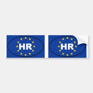 Europäisches Oval Kroatiens Stunde Autoaufkleber