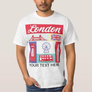 europäisches Stadt-T-Shirt Londons England T-Shirt