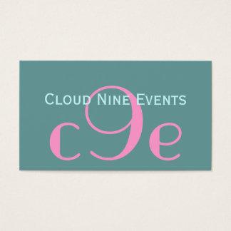 Event-Planer-Monogramm-Logo-Visitenkarten Visitenkarten