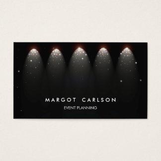 Event-Planer und Unterhaltungs-Sterne und Lichter Visitenkarten
