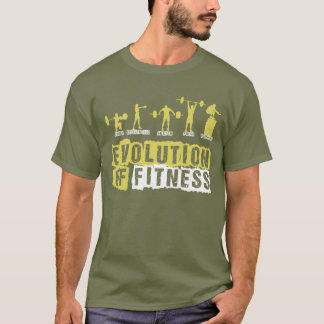 Evolution der Fitness T-Shirt