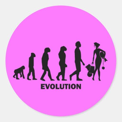 Evolution des Einkaufens Stickers