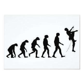 Evolution Gebirgsdes kletterns 12,7 X 17,8 Cm Einladungskarte