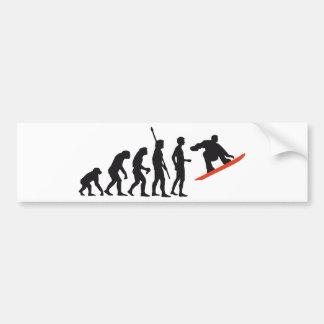 evolution snowboard autoaufkleber