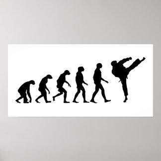 Evolution von Karate Poster