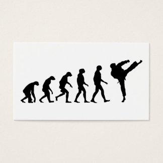 Evolution von Karate Visitenkarte