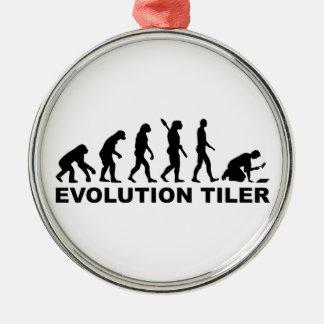 Evolutionsdachdecker Rundes Silberfarbenes Ornament