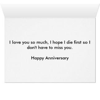 Ewige Liebe-Jahrestags-Karte Grußkarte
