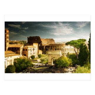 Ewige Stadt-Postkarte mit Ansicht des Colosseum Postkarte