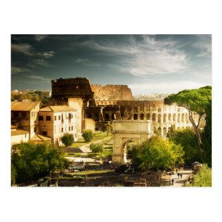 Ewiges Rom angesichts Colosseum Postkarte