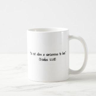 Exodus 22-18 tasse