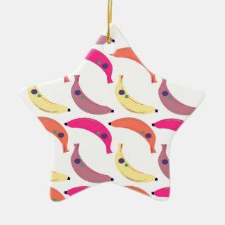 Exotische Bananen des Entwurfs auf Weiß Keramik Ornament