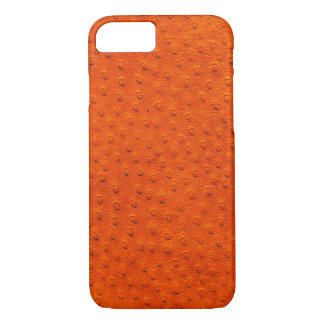 Exotischer orange Strauß-Leder iPhone 7 Kasten iPhone 8/7 Hülle