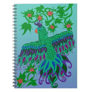 Exotischer Papageien-gewundenes Notizbuch Notizblock