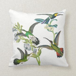 Exotisches Kolibri-Vogel-Blumenthrow-Kissen Kissen
