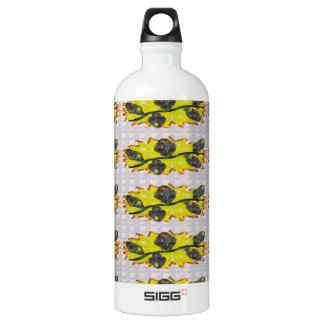 EXOTISCHES olivgrünes Smaragdgrün - Grafikdesign Wasserflasche