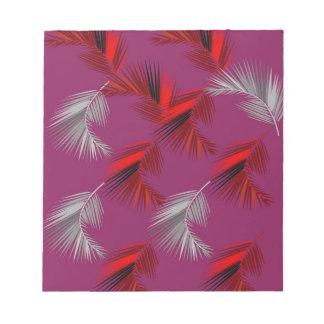 Exotisches Palmenrosa des Entwurfs Notizblock