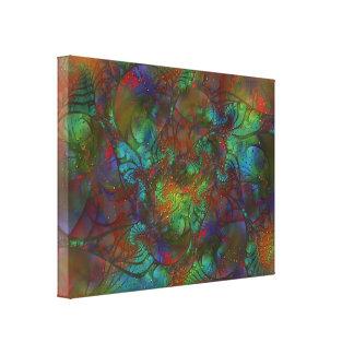 Explodierende vibrierende Farbabstrakte Malerei Leinwand Druck