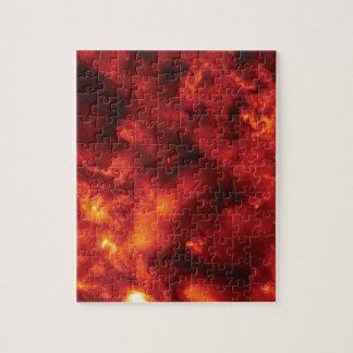 Explosion der Flamme Puzzle