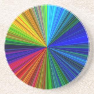 Explosion von Farben Sandstein Untersetzer