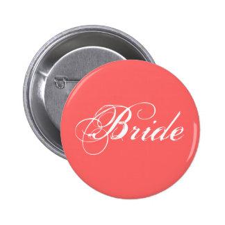 Extravagante Braut auf Koralle Runder Button 5,1 Cm