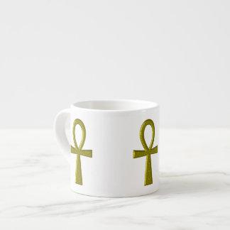 Extravagante GoldAnkh Epresso Tasse