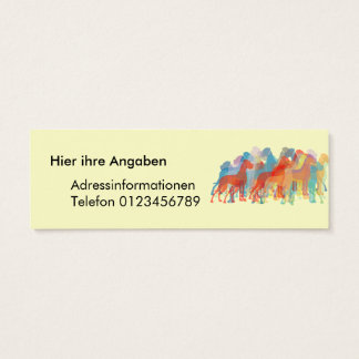 Extravagante große Dänen Mini Visitenkarte
