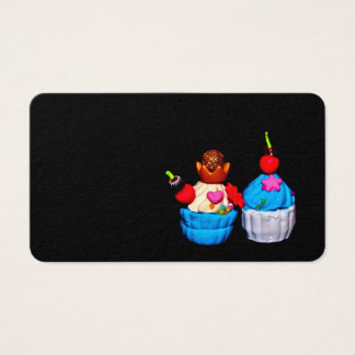 Extravagante kleine Kuchen Visitenkarte