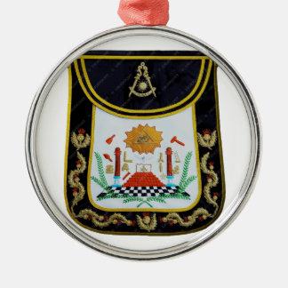 Extravagante letzte HauptSchürze Rundes Silberfarbenes Ornament
