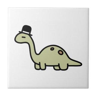 Extravaganter Dinosaurier Kleine Quadratische Fliese