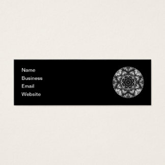 Extravaganter runder Entwurf auf Schwarzem Mini Visitenkarte