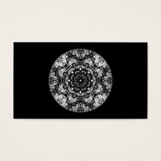 Extravaganter runder Entwurf auf Schwarzem Visitenkarte