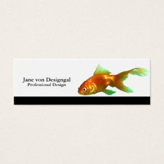 Extravaganter Schwanz oranda Goldfish Mini Visitenkarte
