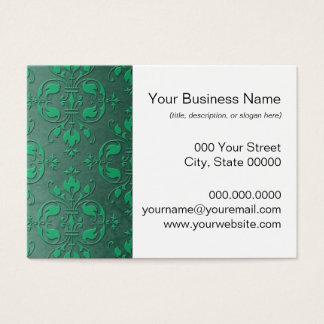 Extravaganter Ton-Damast des Grün-zwei Visitenkarte